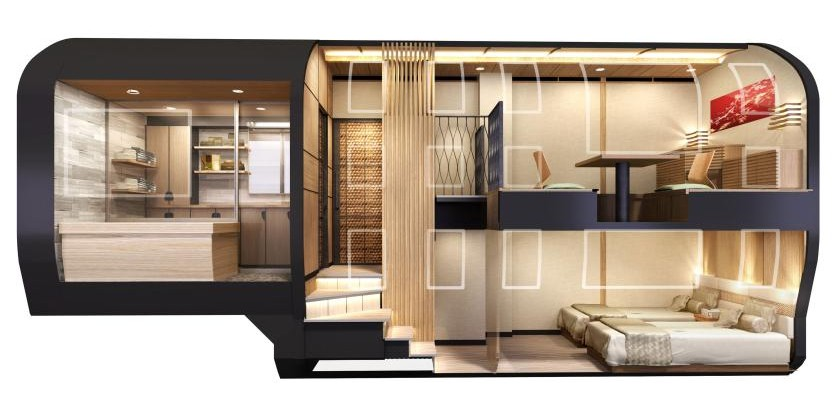 cruise train un train panoramique et luxueux au japon tom. Black Bedroom Furniture Sets. Home Design Ideas