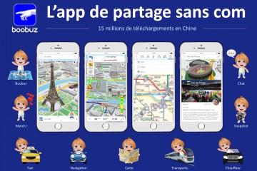 application boobuz géolocalisation navigation offline voyage Tourisme d'itinérance