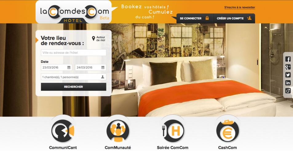 Business travel la com des com allie r seau social et for Plateforme reservation hotel