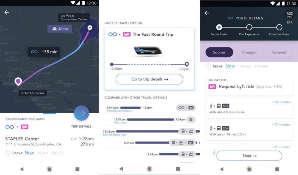 Hyperloop a déjà développé une application pour ses (futurs) usagers