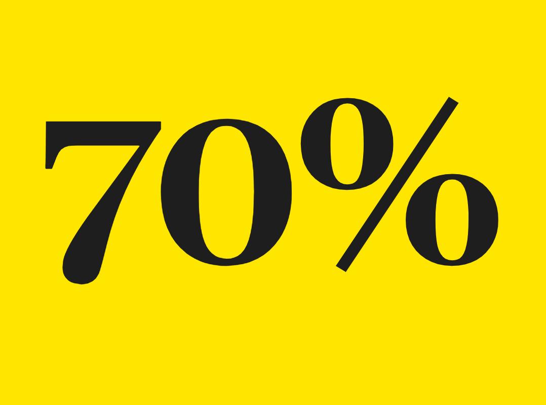 Le chiffre de la semaine : 70% - TOM