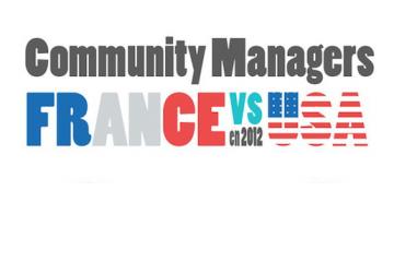 Community Managers France Vs USA en 2012