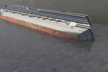 [Simulation 3D] L'enlèvement de l'épave du Costa Concordia