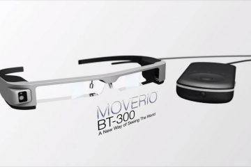 Moverio, les lunettes de réalité augmentée d'Epson