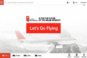 Le site web du futur pour les compagnies aériennes