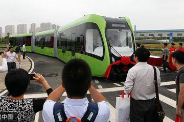 Une société chinoise dévoile le premier train autonome sans rail